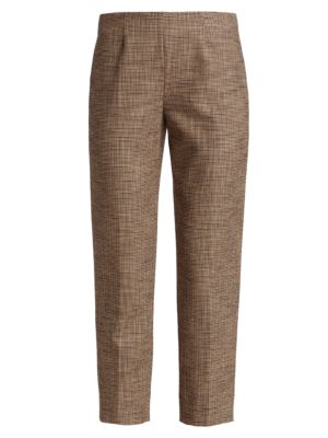 Audrey Cropped Houndstooth Pants