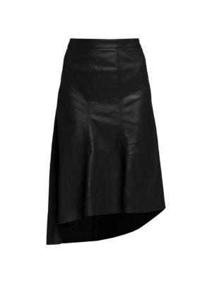 Gia Vegan Leather Asymmetric Skirt
