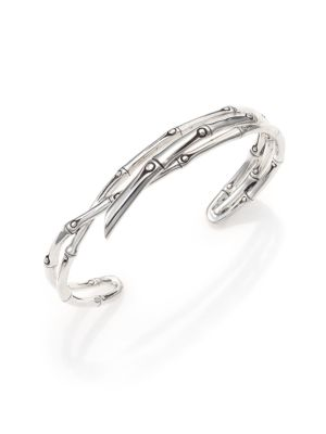 Bamboo Sterling Silver Multi-Row Cuff Bracelet