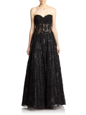 Beaded Corset Gown plus size,  plus size fashion plus size appare