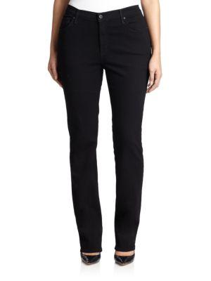 Black Straight-Leg Jeans plus size,  plus size fashion plus size appare