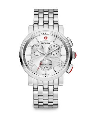 Sport Sail 20 Stainless Steel Large Chronograph Bracelet Watch