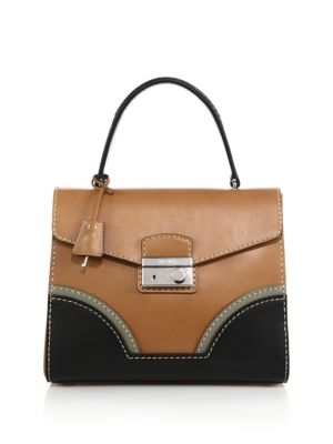 Calf Leather Top-Handle Bag