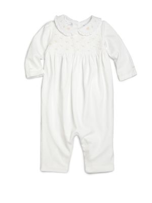 Baby's Smocked Cotton Coverall
