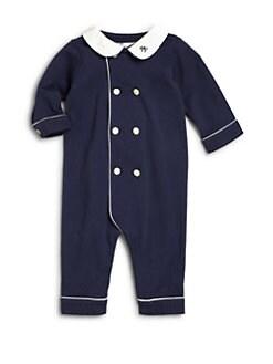 폴로 랄프로렌 남아용 아기 커버올 우주복 Polo Ralph Lauren Baby Boys Pima Cotton Coverall,French Navy