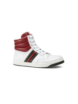 Kid's Pebbled Leather High-Top Sneakers