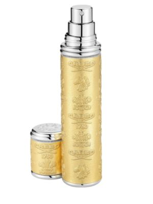 Gold with Silver Trim Leather Pocket Atomizer