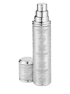 Silver with Silver Trim Leather Pocket Atomizer