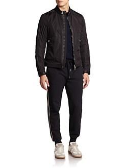 Moncler - Daquin Leather-Trim Nylon Jacket