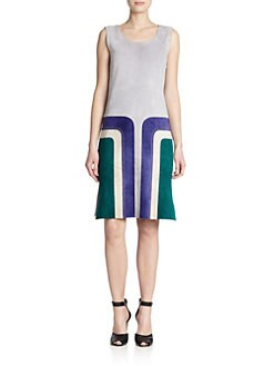Derek Lam Sleeveless Suede Dress