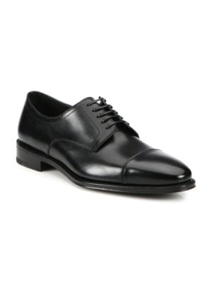 Mabel Cap-Toe Leather Lace-Up Shoes