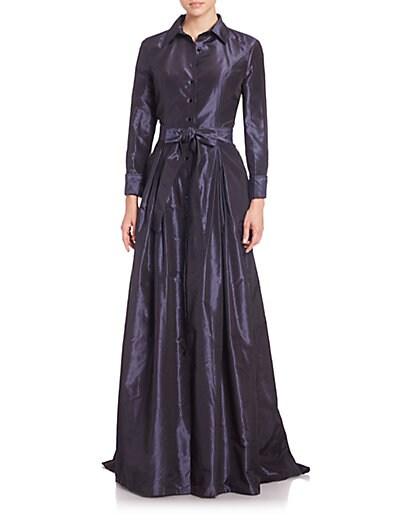 Taffeta Ball Gown $3,090.68 AT vintagedancer.com