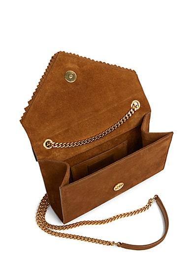 yves saint laurent monogram small fringed leather crossbody bag