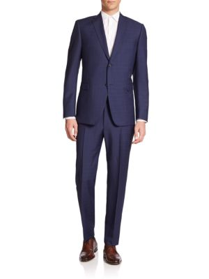 Two-Button Windowpane Suit