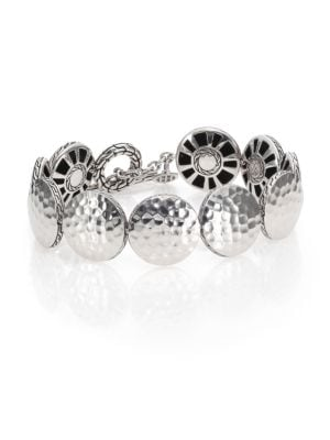Palu Sterling Silver Disc Toggle Bracelet
