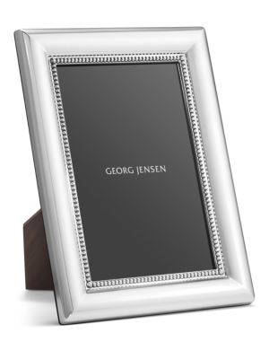Beaded Sterling Silver Photo Frame