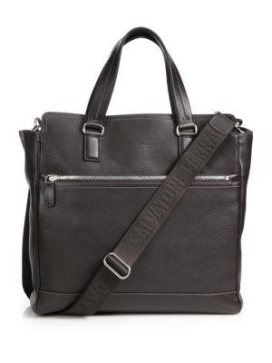 Manhattan Leather Crossbody Tote Bag