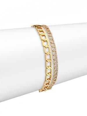 Alibi Diamond & 18K Yellow Gold Multi-Strand Bracelet
