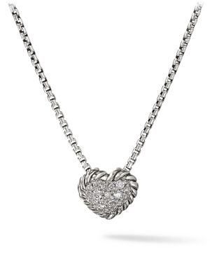 Châtelaine Heart Pendant with Diamonds on Chain