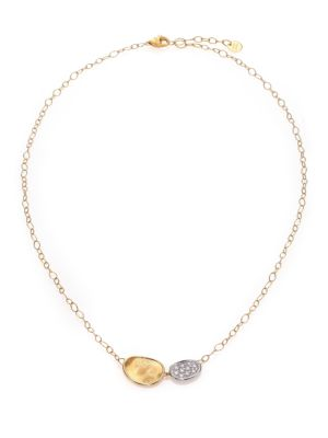 Lunaria Diamond & 18K Yellow Gold Necklace
