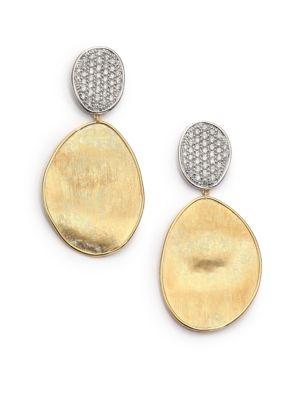 Lunaria Diamond & 18K Yellow Gold Large Drop Earrings