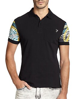 Versace Jeans - Chain-Print Polo