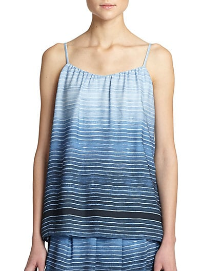Silk Ombré-Striped Camisole