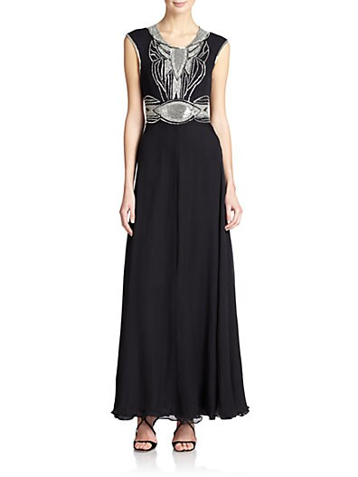 Beaded Open-Back Dress $159.35 AT vintagedancer.com