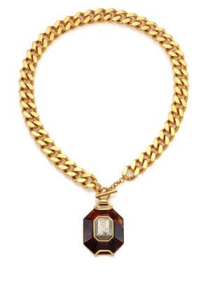 HOUSE OF LAVANDE Batari Pyrite Pendant Necklace