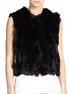 Adrienne Landau - Rabbit Fur Vest <br>