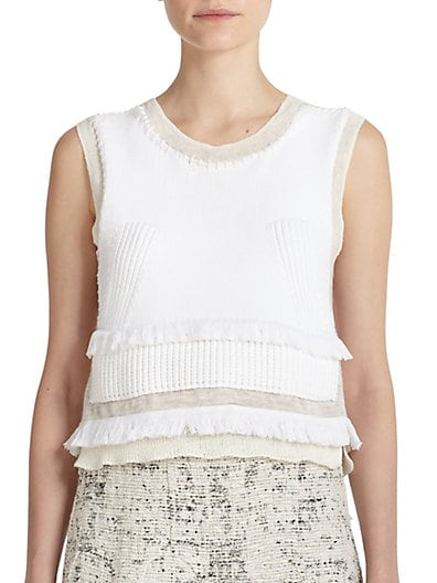 Layered Cotton & Silk Knit Top