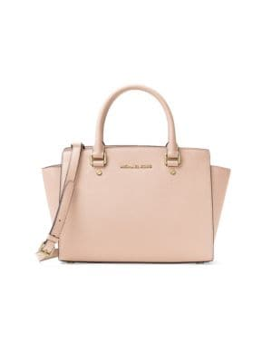 'SELMA MEDIUM' LEATHER SATCHEL - PINK