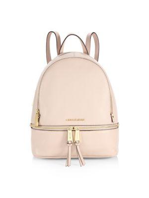 Rhea Zip Leather Backpack
