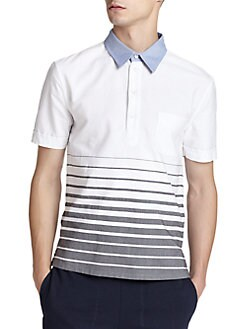 Band of Outsiders - Engineered Stripe Cotton Polo