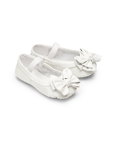 Infant's Baby Clara Bow Leather Ballet Flats