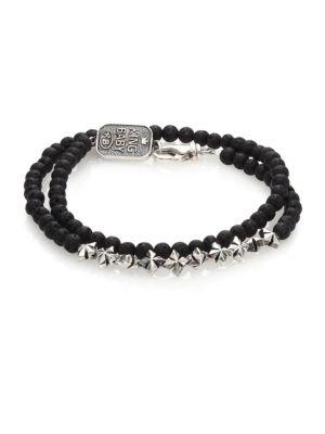 KING BABY STUDIO Double-Wrap Lava Rock Bracelet