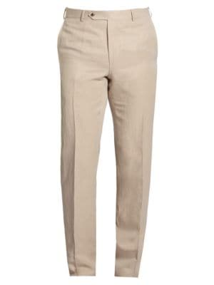 COLLECTION BY SAMUELSOHN Classic-Fit Linen & Silk Trousers
