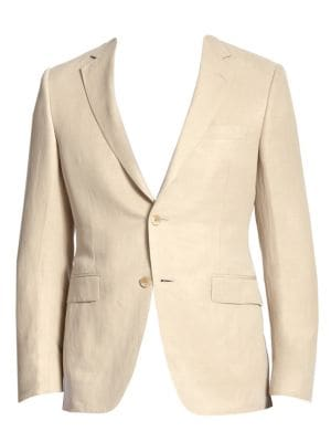 COLLECTION BY SAMUELSOHN Classic-Fit Linen & Silk Sportcoat