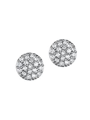Affair Diamond & 14K Yellow Gold Infinity Stud Earrings
