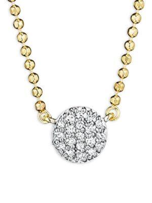 PHILLIPS HOUSE Affair Diamond & 14K Yellow Gold Beaded Infinity Necklace