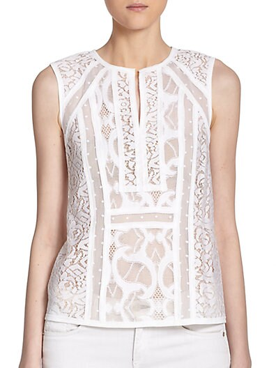 Camy Lace & Mesh Tank Top