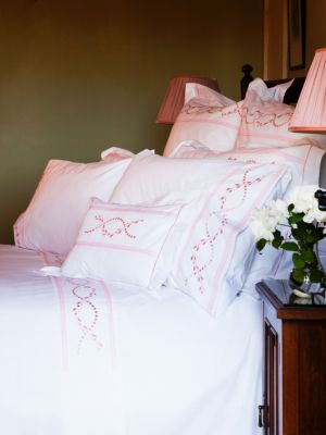 Roman Leaf Embroidered Duvet Cover