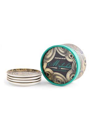 Malachite Porcelain Coasters/Set Of 4