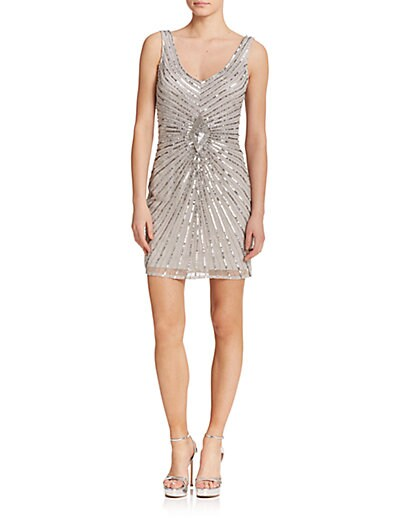 Sequin V-Neck Bridesmaid Dress