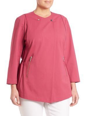 Bi-Stretch Asymmetrical Jacket plus size,  plus size fashion plus size appare