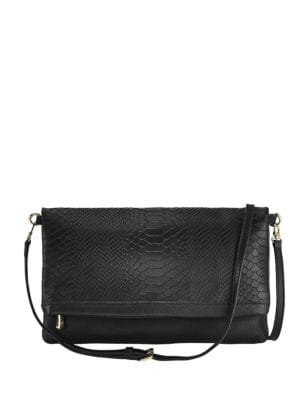 Carly Exotic Leather Convertible Clutch