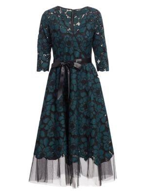 Flared Lace Dress