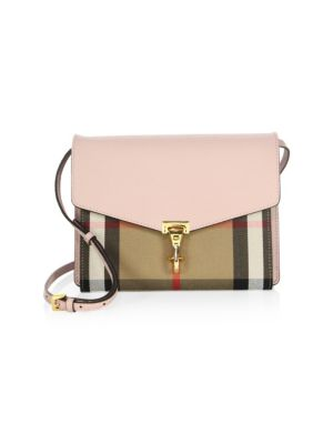 Macken Small House Check & Leather Crossbody Bag