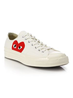 Peek-A-Boo Low-Top Canvas Sneakers