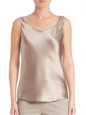 Silk Bias Cut Tank Top